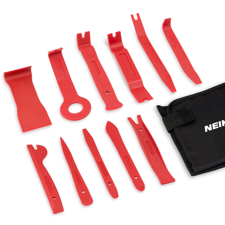 Neiko 20765A Premium Auto Trim Removal Tool Kit, 11 Piece |Trim Molding Installer, Pry, Scraper, Fastener