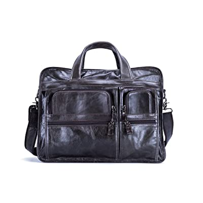 30%OFF leather bags for men Retro Leather Briefcase Laptop Messenger Bag