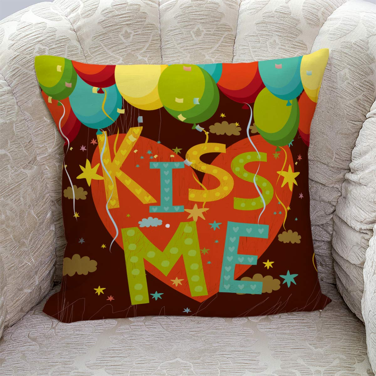 Amazon.com: Velvet Soft Decorative Square Throw Pillow ...