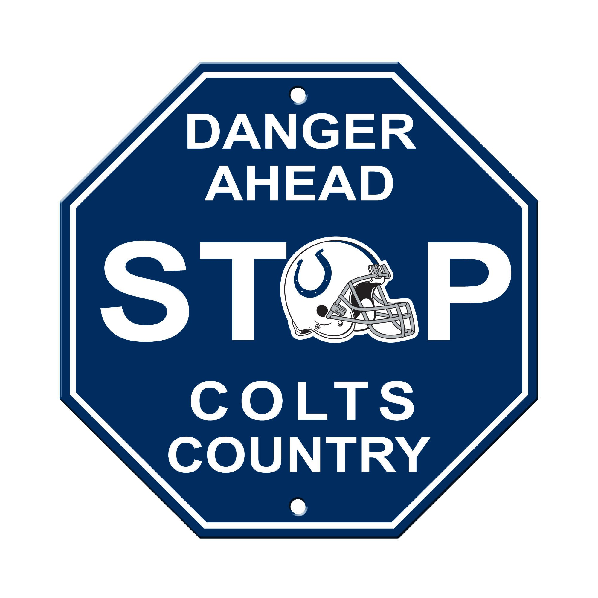 Fremont Die NFL Indianapolis Colts Stop Sign