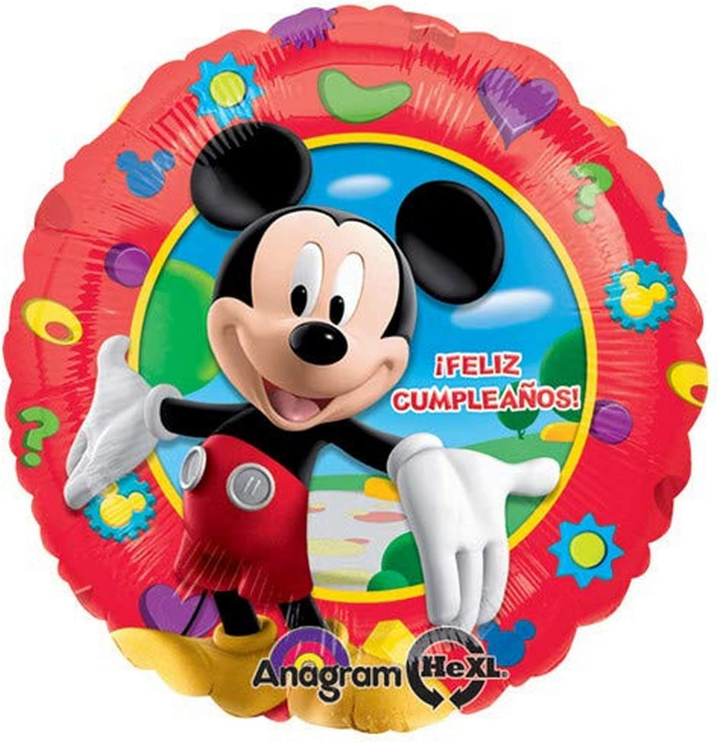 Multicolored Anagram 17873 Mickey Mouse Feliz Cumpleanos Foil Balloon 18