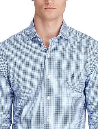 61ed317a RALPH LAUREN Polo Men's Slim Fit Checked Long Sleeve Poplin Shirt ...