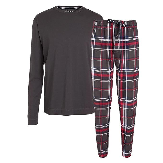 Jockey Pijama Largo XXL Tartán Rojo Gris Oscuro, 2xl-8xl:5XL