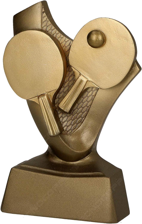 tecnocoppe Trofeo Premiación Ping Pong Tennis Mesa h 10,00 cm Placa Personalizada incluida en el Precio