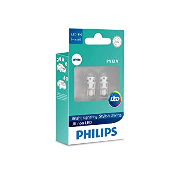 Philips Ultinon LED W5W 6000K Bombillas de Coche (Doble) 11961ULWX2: Amazon.es: Coche y moto