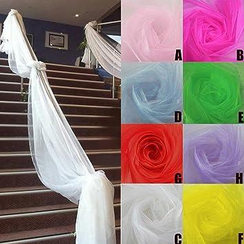 Amazon De Upxiang Hochzeit Fenster Pavillon Vorhang Organza Sheer