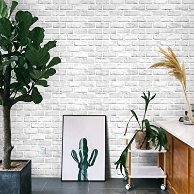 Buy Cohoo Home White Gray Peel And Stick Wallpaper Brick Contact Paper 120 18 Faux 3d Brick Wall Paper White Grey Self Adhesive Wallpaper Removable Wallpaper Brick Backsplash Stick And Peel Vinyl