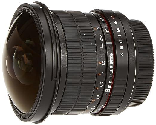 185 opinioni per SAMYANG Obiettivo fisheye 8 mm f/3.5 UMC CS II per Canon