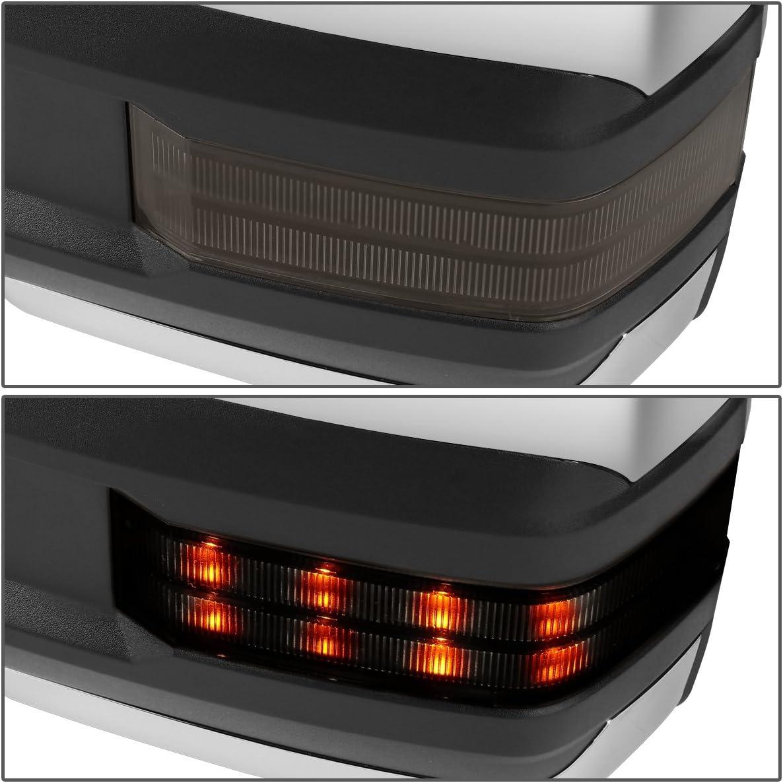 88-02 Chevy GMC C//K DNA MOTORING TWM-031-T888-BK-SM Powered Towing Mirror LED Smoked