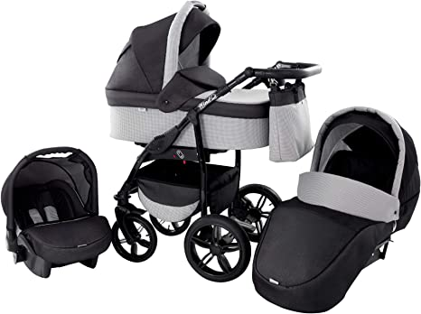 All You Need 48 Baby Pram Zeo Wind 3in1 Set carrycot Gondola Buggy Sport Part Pushchair car seat