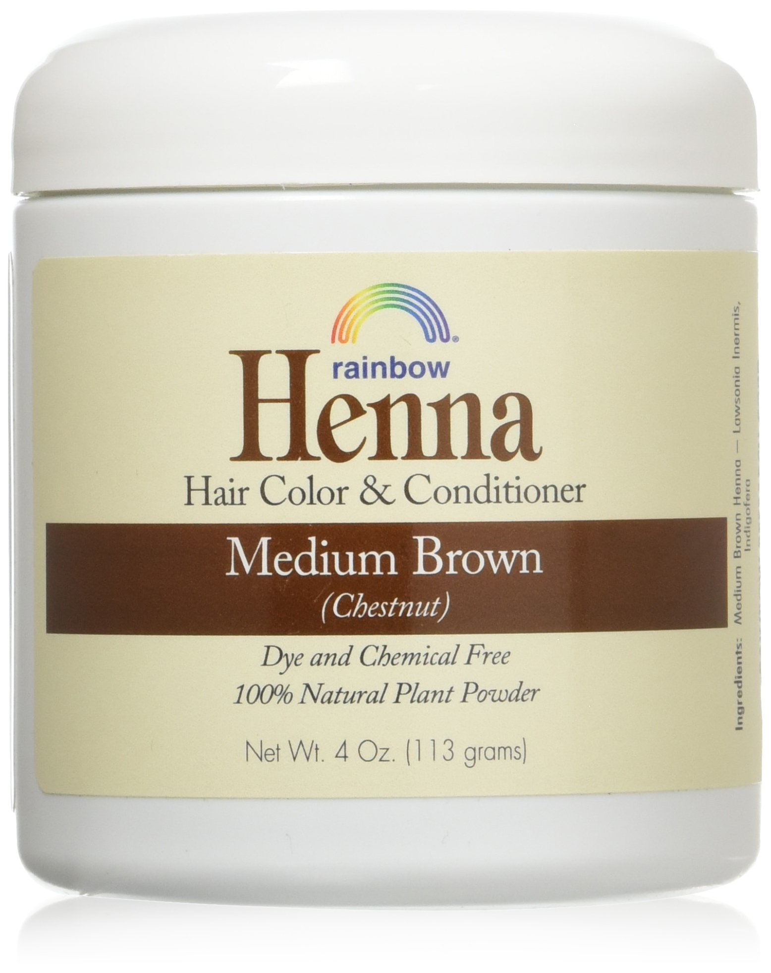 Henna (Persian) - Med Brown (Chestnut), 4 oz (pack of 2) by Henna