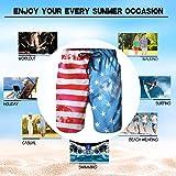 Alistyle Men's 3D American Flag Print Swimming