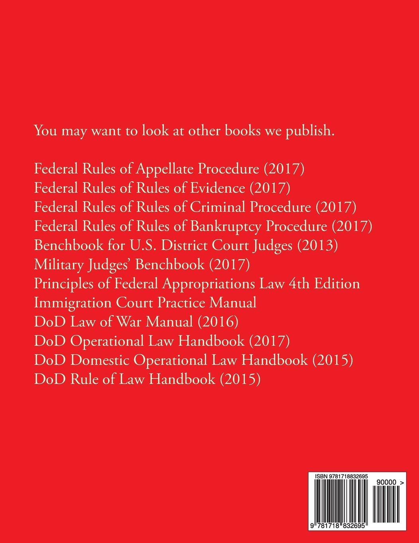 Federal Rules of Civil Procedure (2017): Federal Judicial center:  9781718832695: Amazon.com: Books