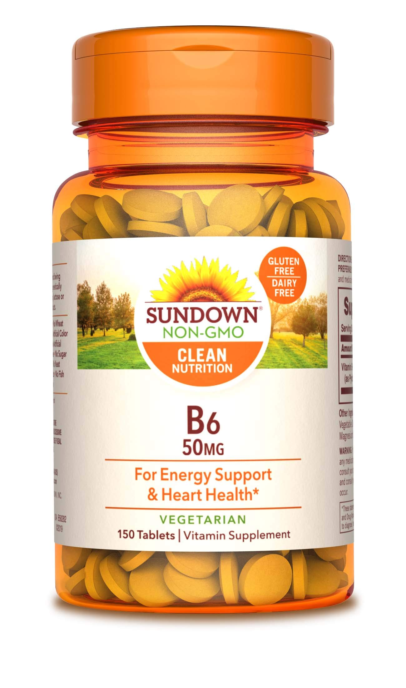 Sundown Naturals® Vitamin B-6 50 mg, 150 Tablets (Packaging May Vary)