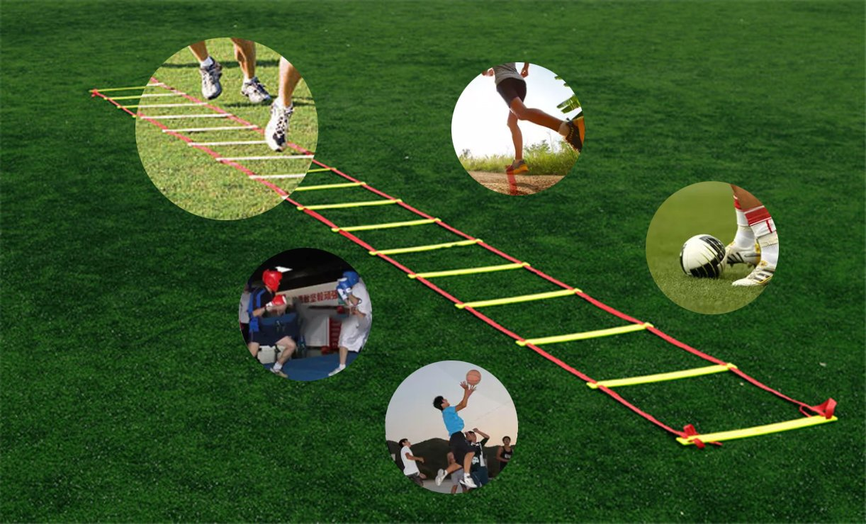 Trusted Buddy Quality Agility Ladder with Jump Rope and Carry Bag Great for Speed and Endurance Training for Football Soccer Martial Arts