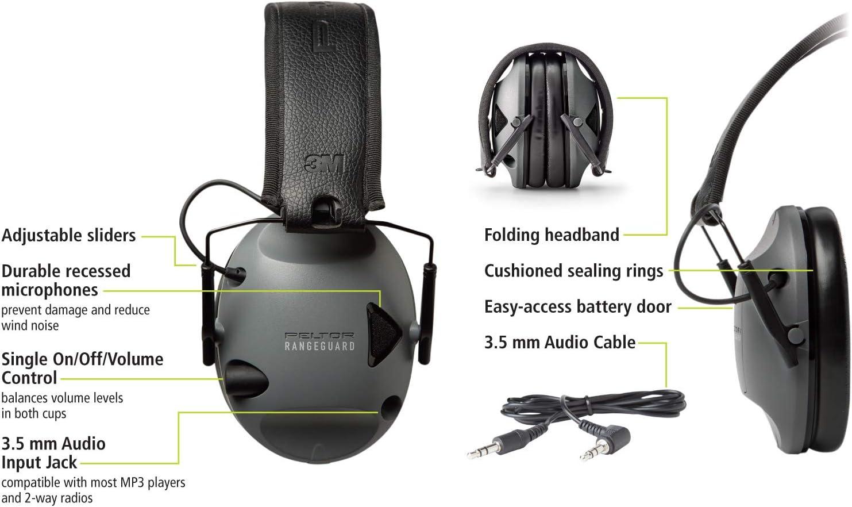 3M Peltor Sport RangeGuard Electronic Hearing Protection NRR 21dB RG-OTH-4