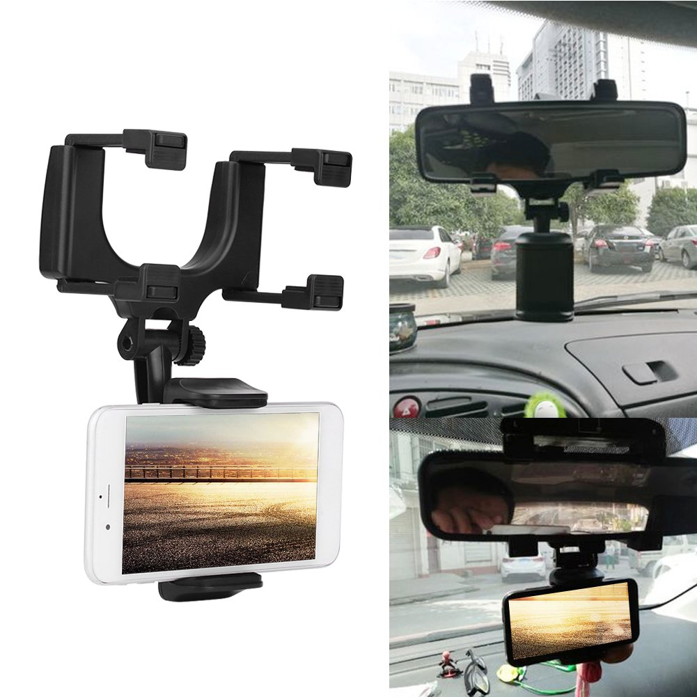 Car Rearview Mirror Mount Holder Universal 360/° Car Rearview Mirror GPS Smartphone Mount Holder VGEBY VGEBY09c84db1us
