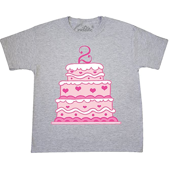 Amazon Inktastic 2nd Birthday Cake Youth T Shirt Clothing