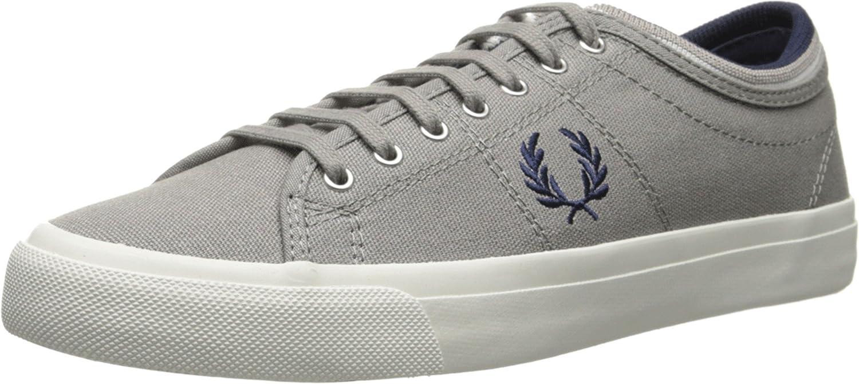 c7f738e03c Amazon.com: Fred Perry Men's Kendrick Tipped Cuff Canvas Cloudburst Sneaker  UK 6.5 (US Men's 7.5) D (M): Shoes