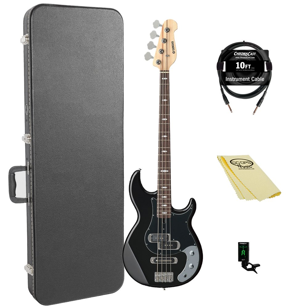 Yamaha BB234 BB-Series 4-String Bass Guitar with Hard Case and Accessories, Black