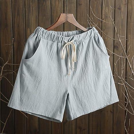 DKXLW Pantalones Cortos De Mujer,La Luz Azul De Verano Shorts ...