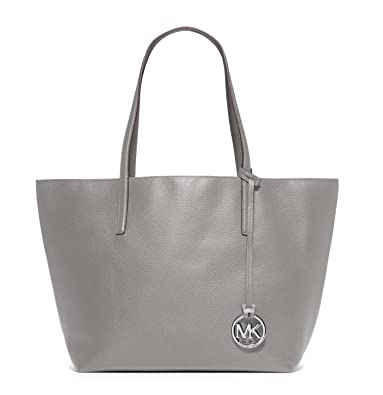 16f44f5e7f2c Amazon.com: Michael Kors Gray Izzy Large Reversible Leather Tote: Shoes