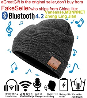 92e5ab18018 Christmas Tech Gift Bluetooth Beanie Winter Hat Running Headphones Wireless  Musical Knit Cap with Stereo Headsets