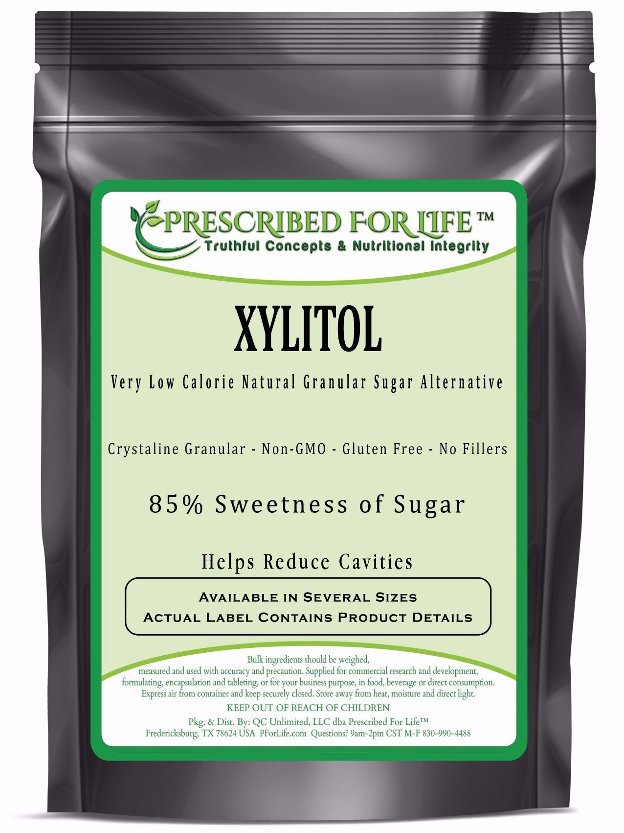 Xylitol - Low Calorie Natural Granular Sugar Alternative - 85% Sweetness of Sugar, 25 kg by Prescribed For Life