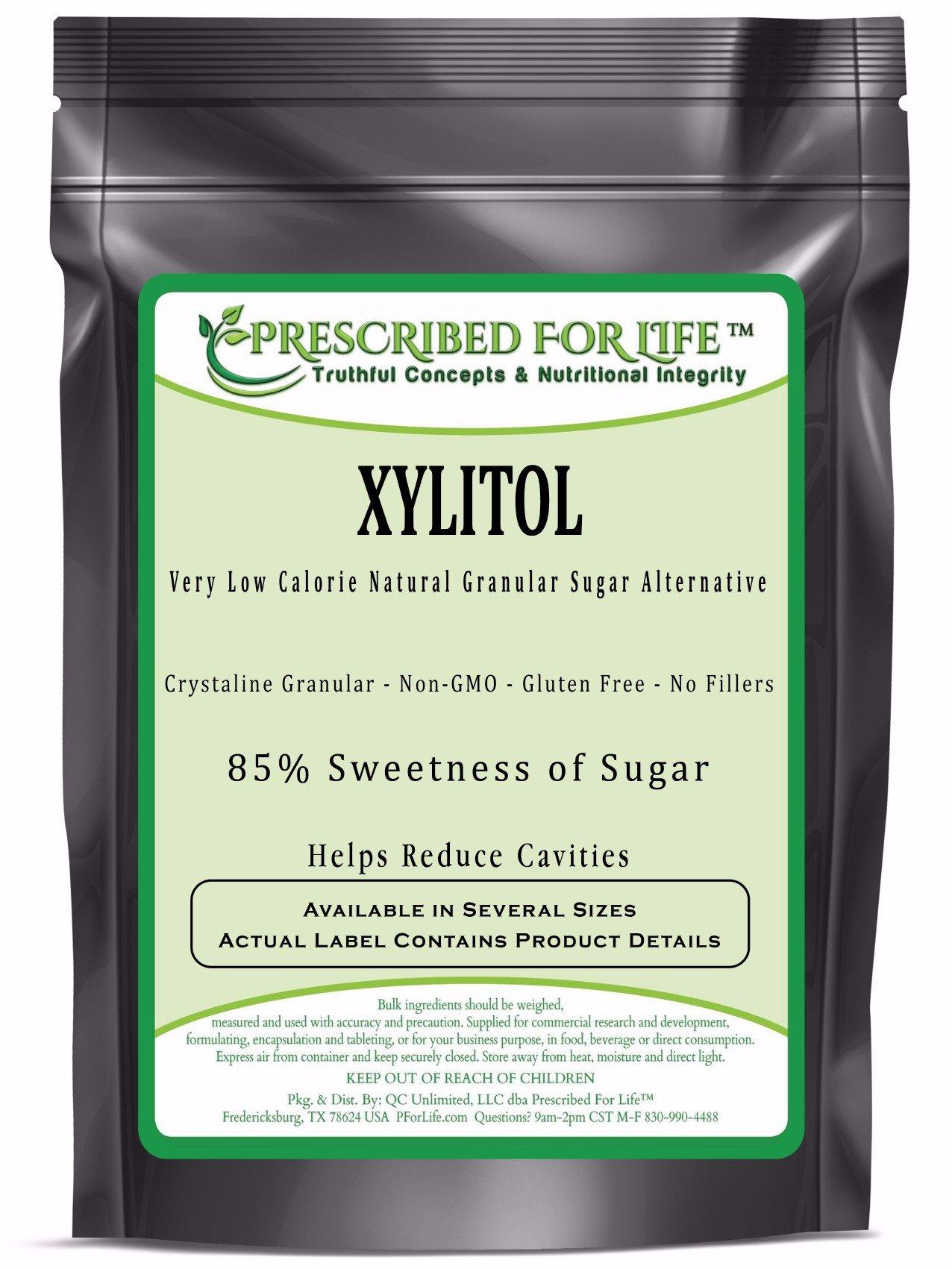 Xylitol - Low Calorie Natural Granular Sugar Alternative - 85% Sweetness of Sugar, 2 kg