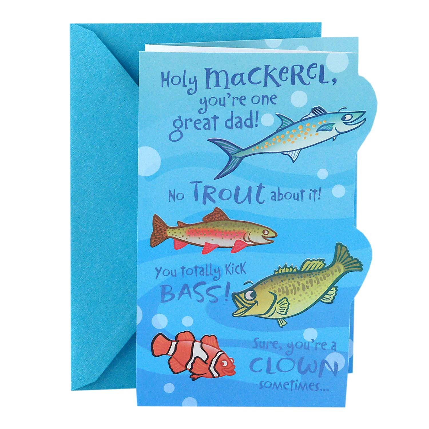 Hallmark Funny Father's Day Greeting Card (Great Dad Fishing Puns)
