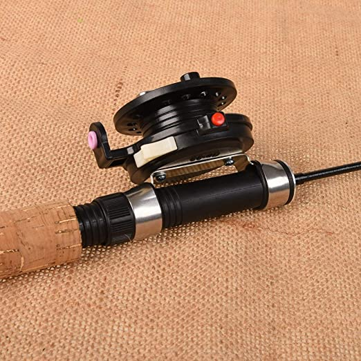 Zdmathe Ice Angelrute Einstellbar Tragbar Eisangeln Ice Fishing Rod
