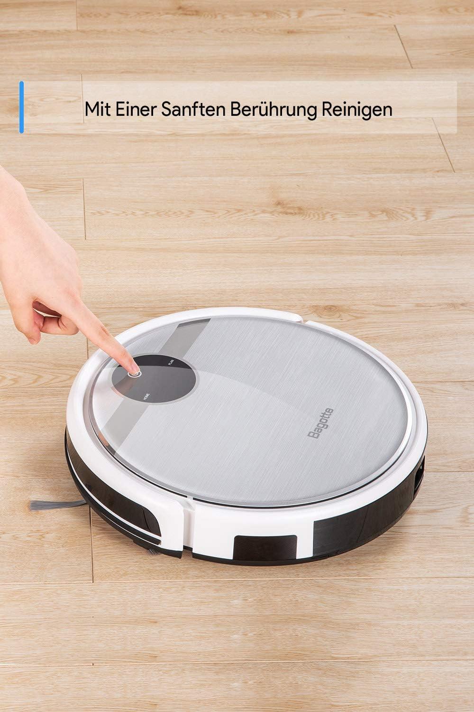 Robot aspirador Bagotte 3-en-1, robot aspirador con función de limpieza, robot aspirador de giroscopio de carga automática para pelo de animales y alérgenos, suelos duros y alfombras.: Amazon.es: Hogar