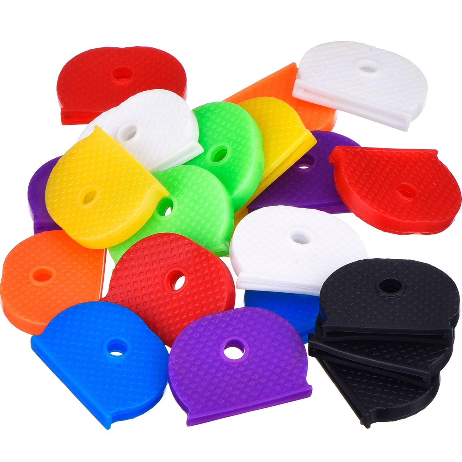 24 Pieces Key Caps Set Flexible Key Covers for Easy Identifying Door Keys, 8 Colors Willbond