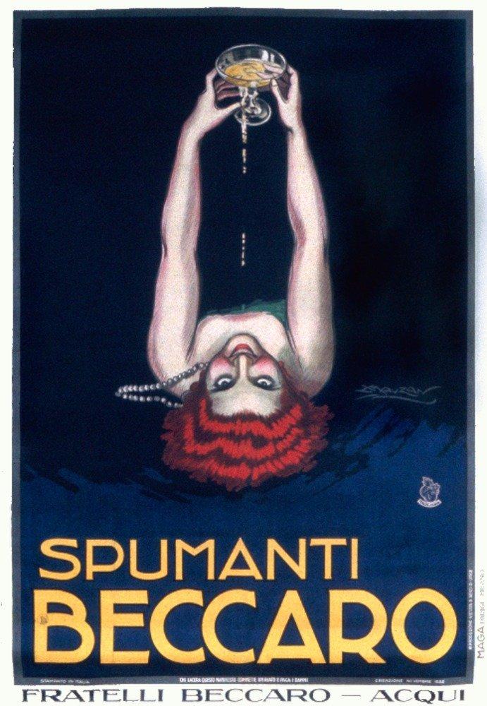 Spumanti Beccaroヴィンテージポスター(アーティスト: Mauzan )イタリアC。1922 12 x 18 Art Print LANT-59555-12x18 B017Z79SQM  12 x 18 Art Print