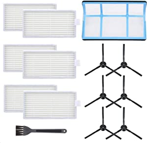 Mochenli Vacuum Filter Kit Replacement for Robotic Vacuum ILIFE V3 V3S V5 V5s, Pro Robot Vacuum Cleaner Filters and 6 Side Brushes and 1 Primary Filter (Pack of 13)