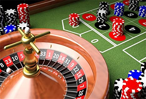 Amazon.com : CSFOTO 5x3ft Background for Roulette Wheel and Chips ...