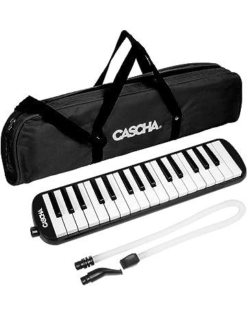 CASCHA HH 2061 Melódica con estuche y boquilla, Instrumento para niños y principiantes, Negro