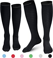 CAMBIVO 2 Pairs Compression Socks for Women& Men (20-30 mmHg)