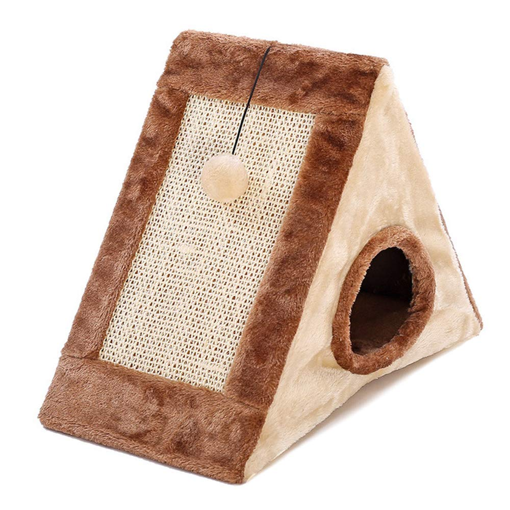 Brown BDFA Cat Climbing Frame With A Hanging Ball,Brown