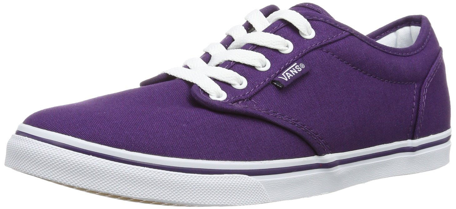 Vans Women's Atwood Low Canvas Skate Shoes, Grape/White (VN-0U4IATN) B00FXLJ5RA 7 B(M) US|Grape/White