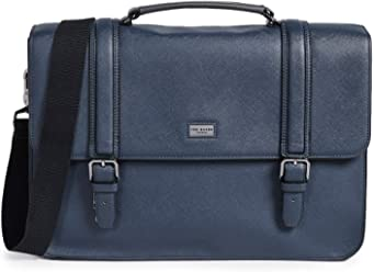 Ted Baker Mens Crossgrain Satchel, Navy, Blue, One Size