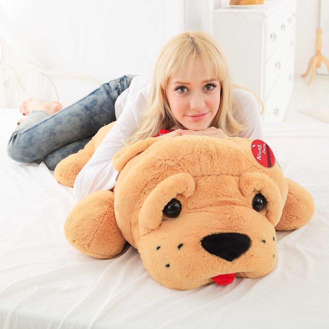 """Amazon.com: Niuniu Daddy 18"""" Plush Oscar Puppy Dog Soft Toy, Large ..."""