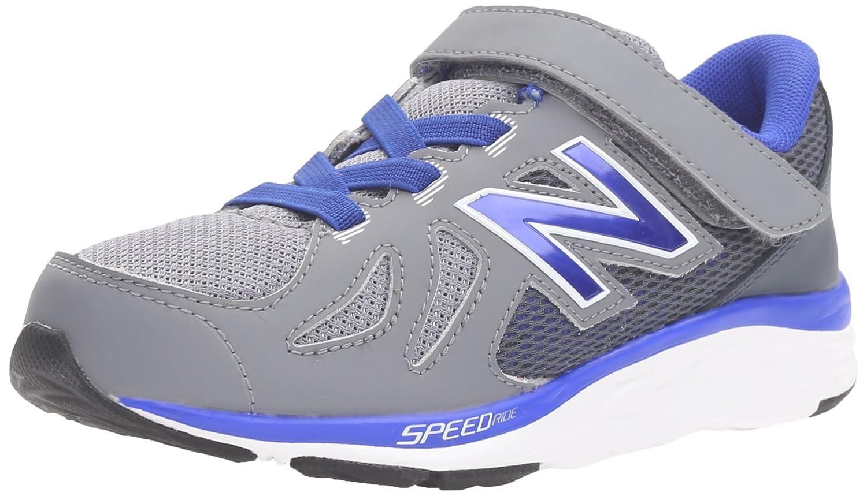 New Balance kv790 V6 Zapatilla de Running Pre (Little Kid) 3 M US Little Kid Gris/Azul