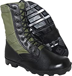 342698568ad KRAZY SHOE ARTISTS Jungle Boot 8 Inch Leather Black Green Tactical Men s  Combat