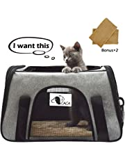 Airline Approved Pet Carrier Soft-Sided, FRUITEAM Pet Travel Bag Portable Traveling Kennel for Small Cats & Dogs with Side Pockets, Foldable Portable Handbag for Puppies/Kittens