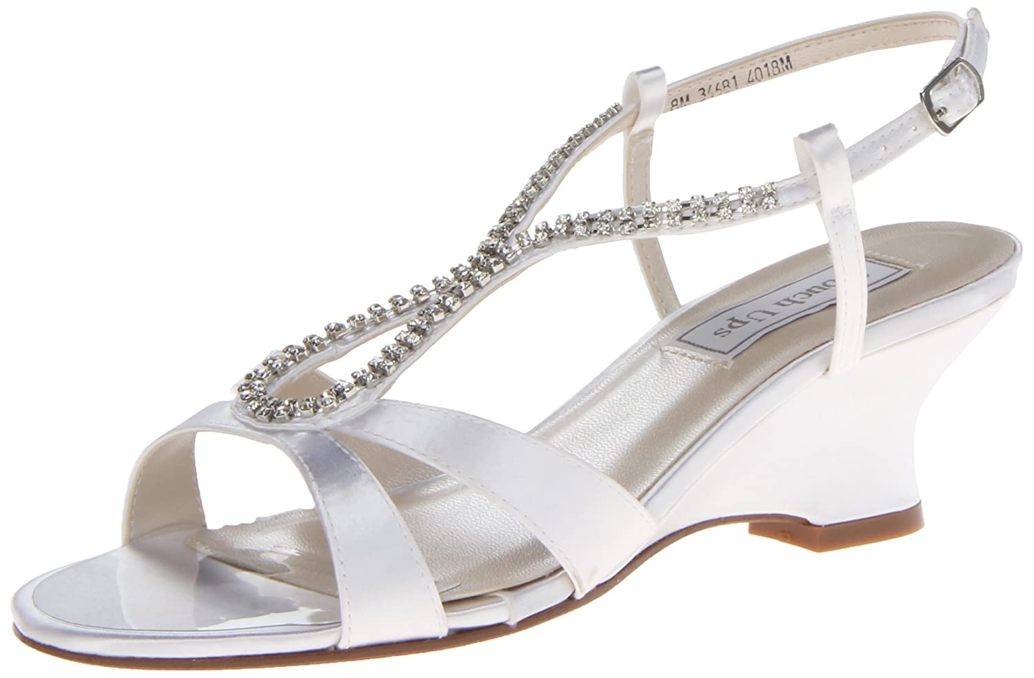Touch Ups Women's Bernie Wedge Sandal B00FYJI9SW 12 B(M) US|White Satin