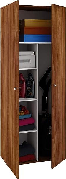 VCM Schrank Universal Staubsauger Besenschrank Mehrzweckschrank Putzschrank Holz Sonoma-eiche 178 x 70 x 40 cm Vandol