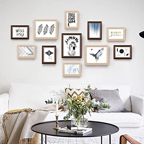 Amazon.com: ZYANZ Photo Frame Wall Gallery Kit Includes: Hanging ...
