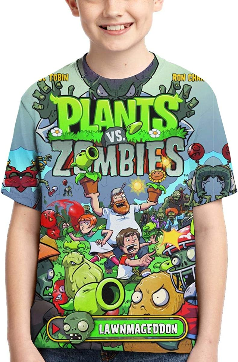 Boys Girls Plants Vs Zombies 2 Customized Novelty T-Shirts Summer Teens Fashion Casual Tee Cute Short Sleeve