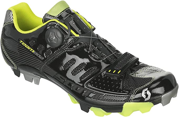 Scott MTB Team Boa bicicleta zapatos Black/Lime Green, hombre, blue/lime green glow: Amazon.es: Deportes y aire libre